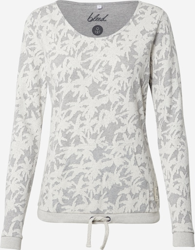 bleed clothing Pull-over en gris / blanc, Vue avec produit