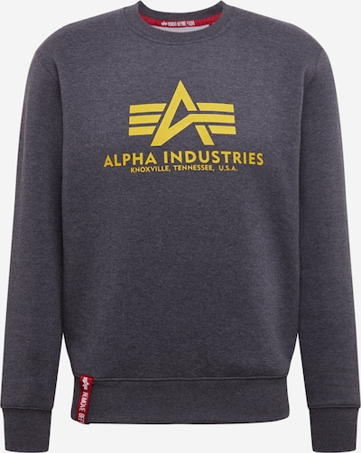 ALPHA INDUSTRIES Sweater 'Basic' in gelb / grau, Produktansicht