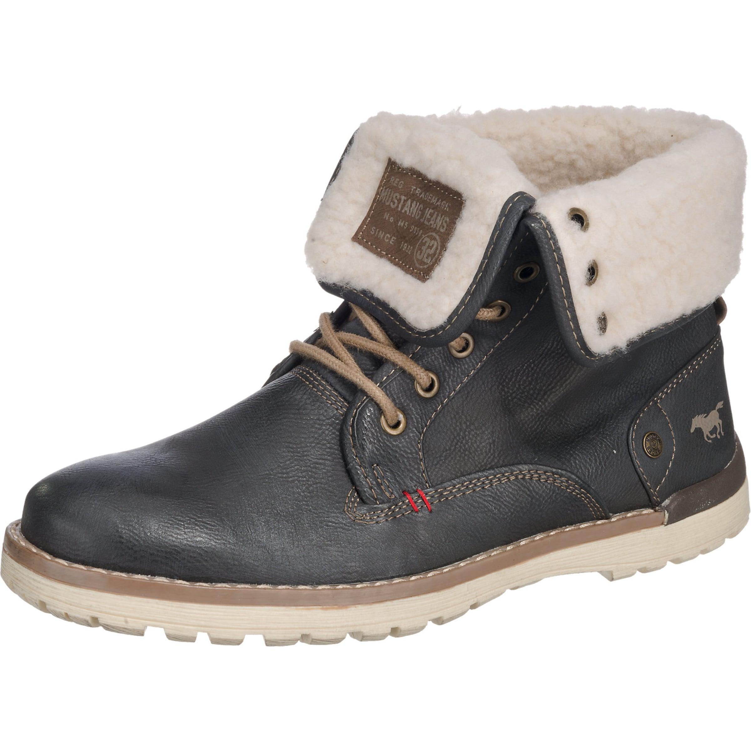 MUSTANG | Schnür-Boot mit umklappbarem Schaft und warmem Futter Schuhe Gut getragene Schuhe
