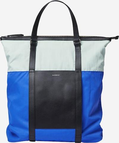 SANDQVIST Rucksack 'MARTA' in blau / grün / schwarz, Produktansicht
