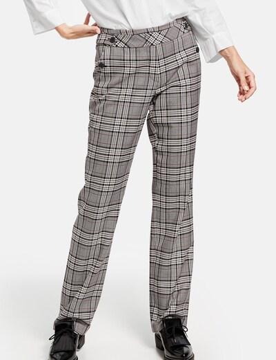 GERRY WEBER Hose in grau / rot / weiß, Modelansicht