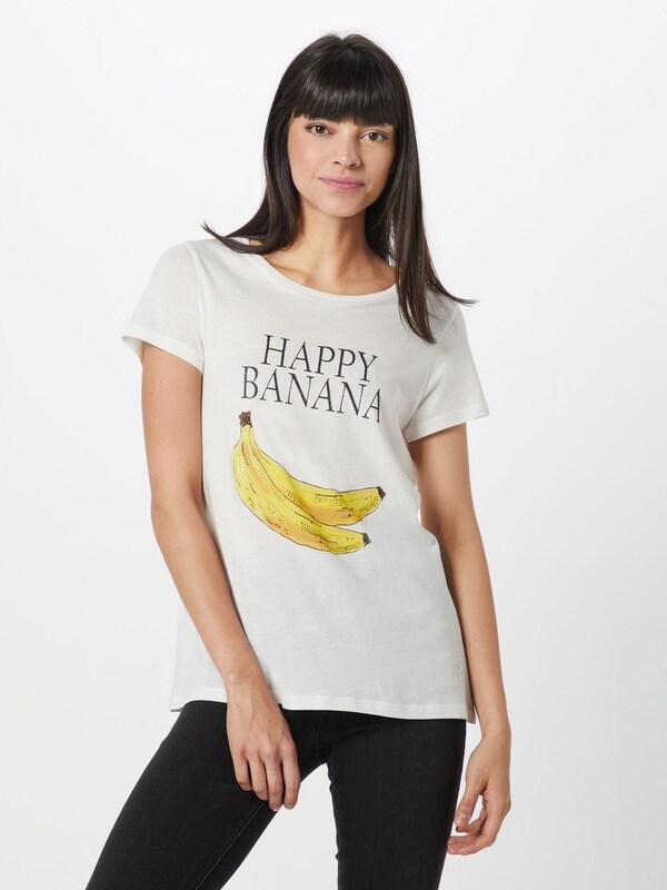 With Banana 'shirt Blanc shirt Print' T En Frogbox qpSVGMUz