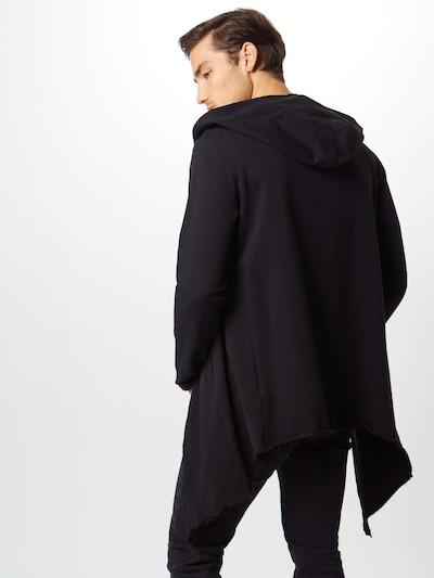 Urban Classics Sweatjacke 'Long Hooded Open Edge' in schwarz: Rückansicht