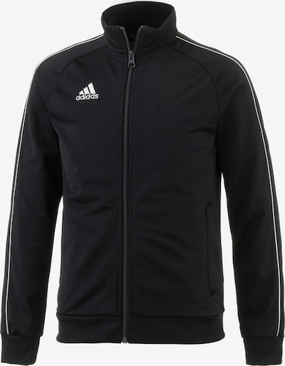 ADIDAS PERFORMANCE Trainingsjacke 'Core 18 Pes' in schwarz / weiß, Produktansicht