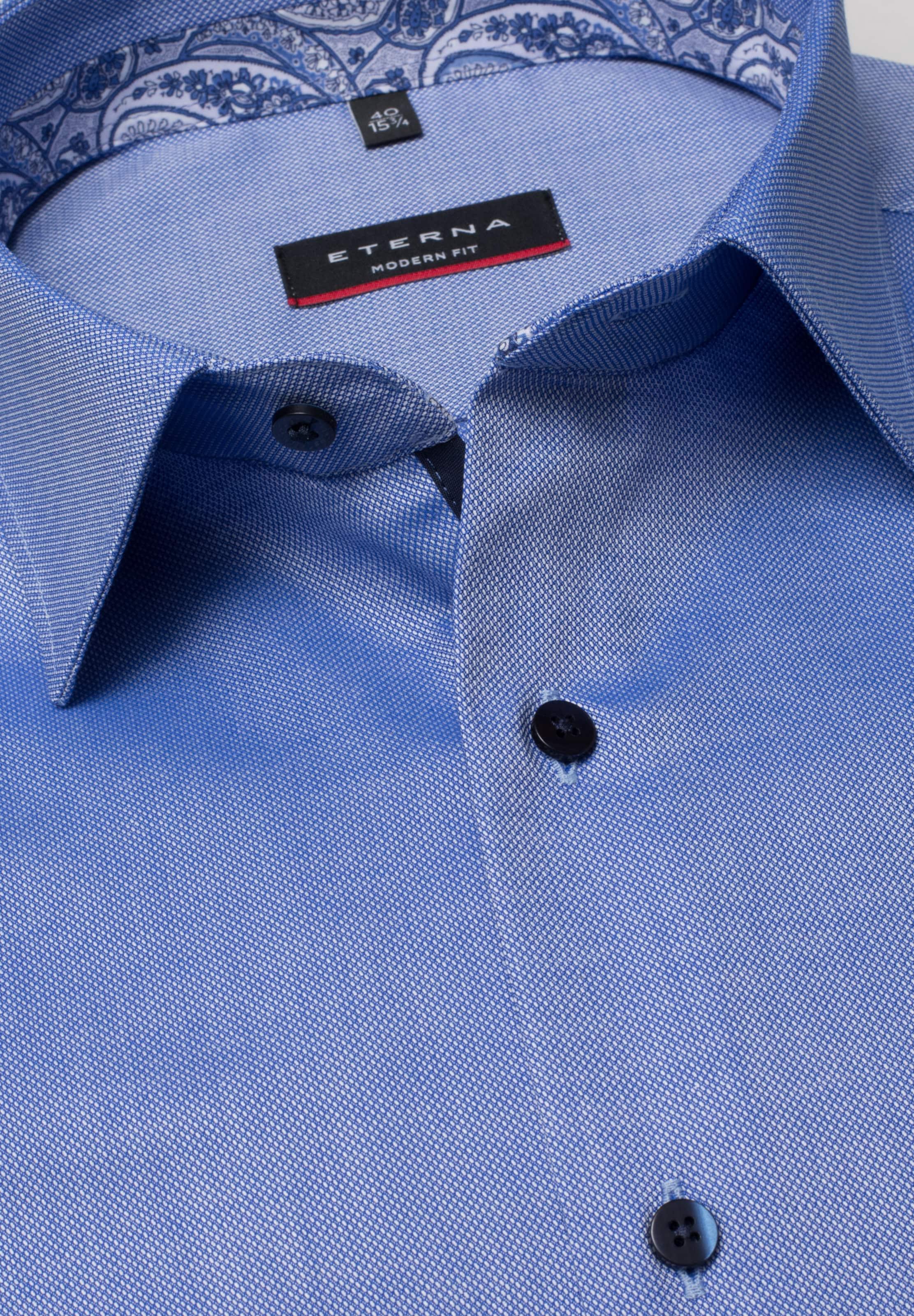 RoyalblauWeiß Hemd Fit' Eterna 'modern In 34L5RjAq