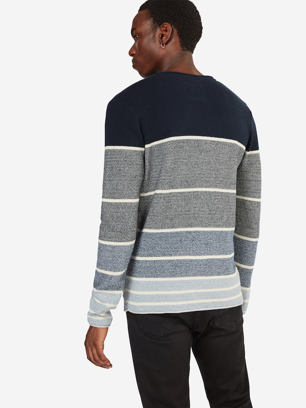 EDC BY ESPRIT Pullover 'struc cnk strip'