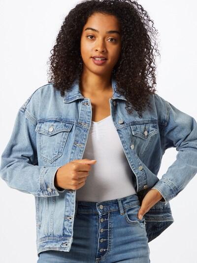 VILA Prehodna jakna 'LILIAN' | moder denim barva, Prikaz modela