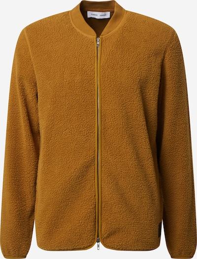Samsoe Samsoe Gebreid vest 'Anker' in de kleur Goudgeel, Productweergave