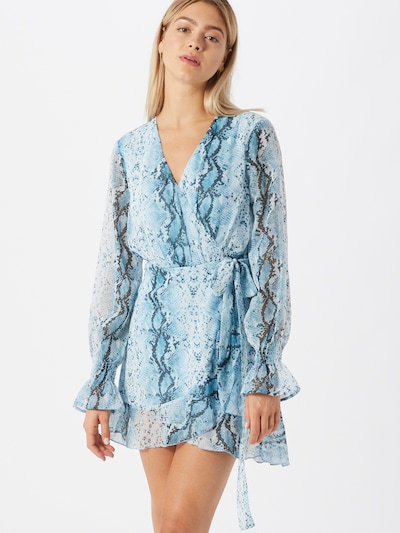 Missguided Kleid in hellblau / dunkelblau, Modelansicht