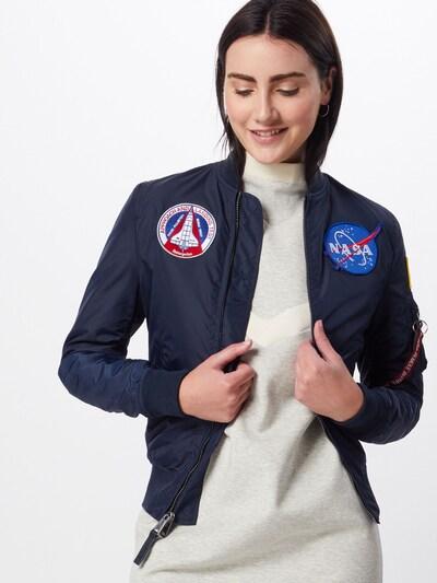ALPHA INDUSTRIES Jacke  'MA-1 TT NASA Revers' in navy, Modelansicht