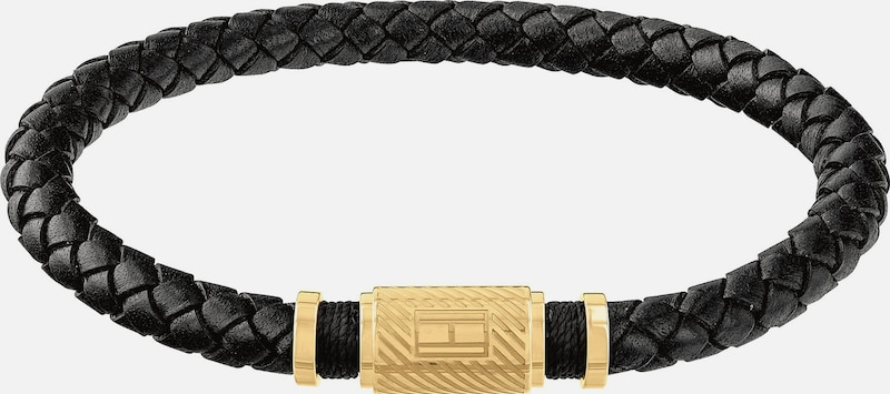 TOMMY HILFIGER Armband 'Casual Core' in gold / schwarz: Frontalansicht