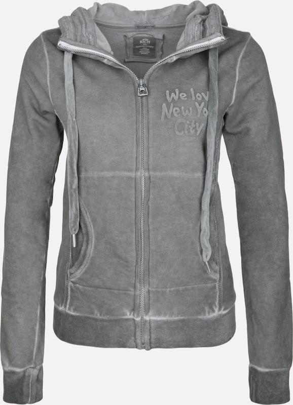 BETTER RICH Sweatjacke 'Shelby' in dunkelgrau  Markenkleidung für Männer und Frauen