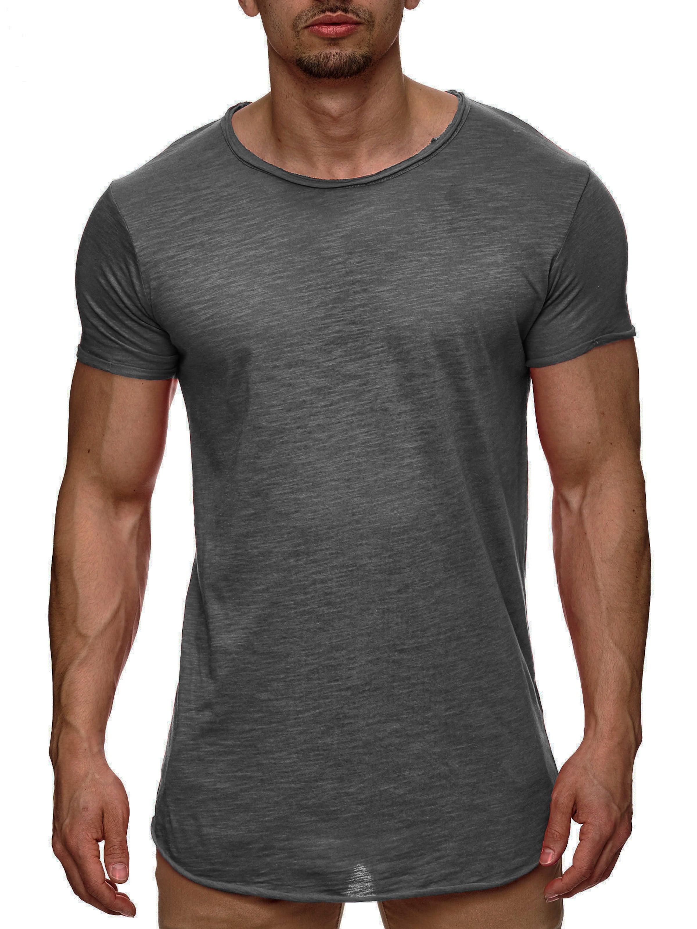 Gris T 'willbur' shirt Jeans En Indicode Chiné 7Yb6yfgv