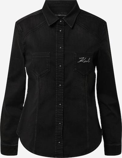 Karl Lagerfeld Denim Bluse 'KLWSH0009' in black denim, Produktansicht