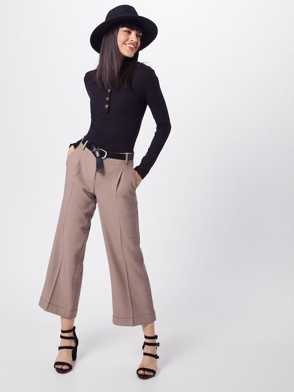 High Bodysuit' Noir T En Missguided 'horn Neck Button shirt EWIbH9De2Y