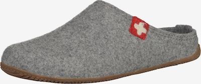 Living Kitzbühel Pantoufle en gris chiné / rouge / blanc, Vue avec produit