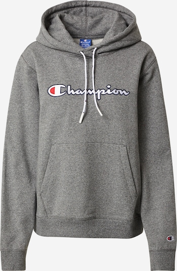 Champion Authentic Athletic Apparel Sweatshirt in graumeliert / rot / weiß, Produktansicht