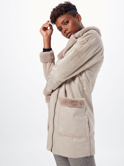 Rudeninis-žieminis paltas 'EMMA' iš ONLY , spalva - gelsvai pilka spalva: Vaizdas iš priekio