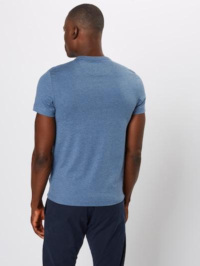 Marškinėliai 'DENNIS SOLID SS TEE' iš FARAH , spalva - tamsiai mėlyna: Vaizdas iš galinės pusės
