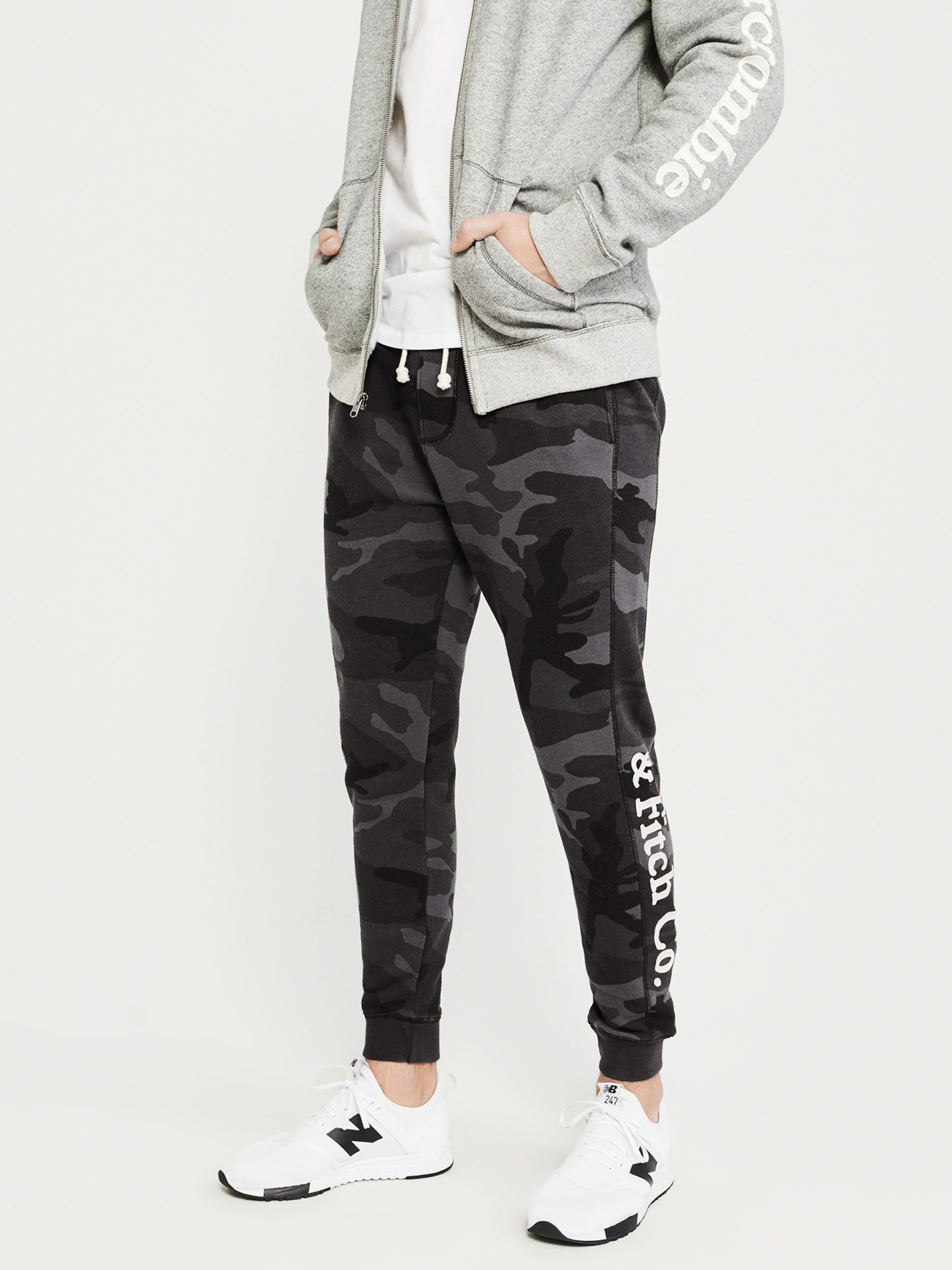 Abercrombieamp; Pantalon Fitch En AnthraciteNoir Abercrombieamp; 29IEDH