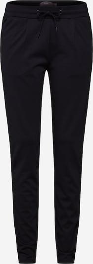 ICHI Stoffhose in schwarz: Frontalansicht