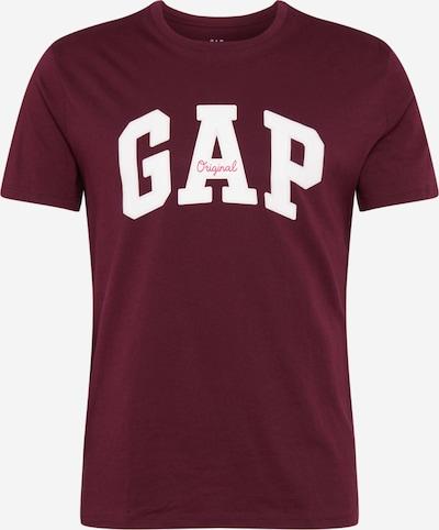 GAP T-Shirt in weinrot / weiß, Produktansicht