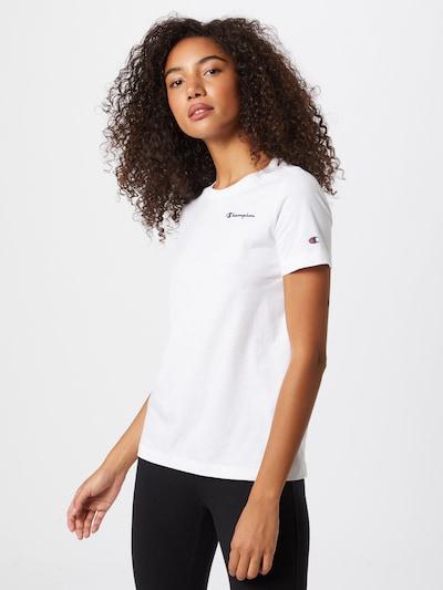 Tricou Champion Authentic Athletic Apparel pe navy / alb, Vizualizare model