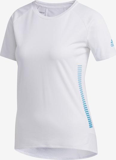 ADIDAS PERFORMANCE Functioneel shirt in de kleur Lichtblauw / Wit: Vooraanzicht