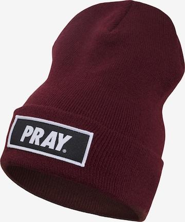 Urban Classics Beanie 'Pray' in Purple
