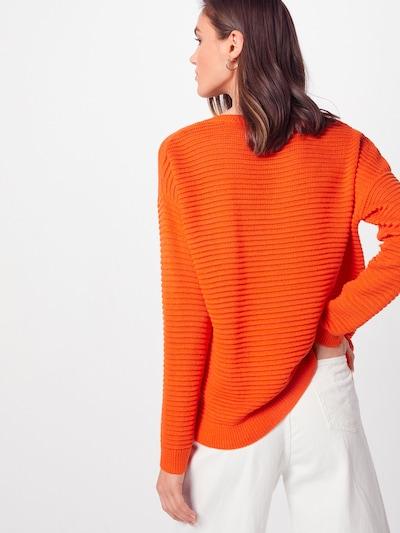 TOM TAILOR DENIM Pulover 'Ottoman' | oranžna barva: Pogled od zadnje strani