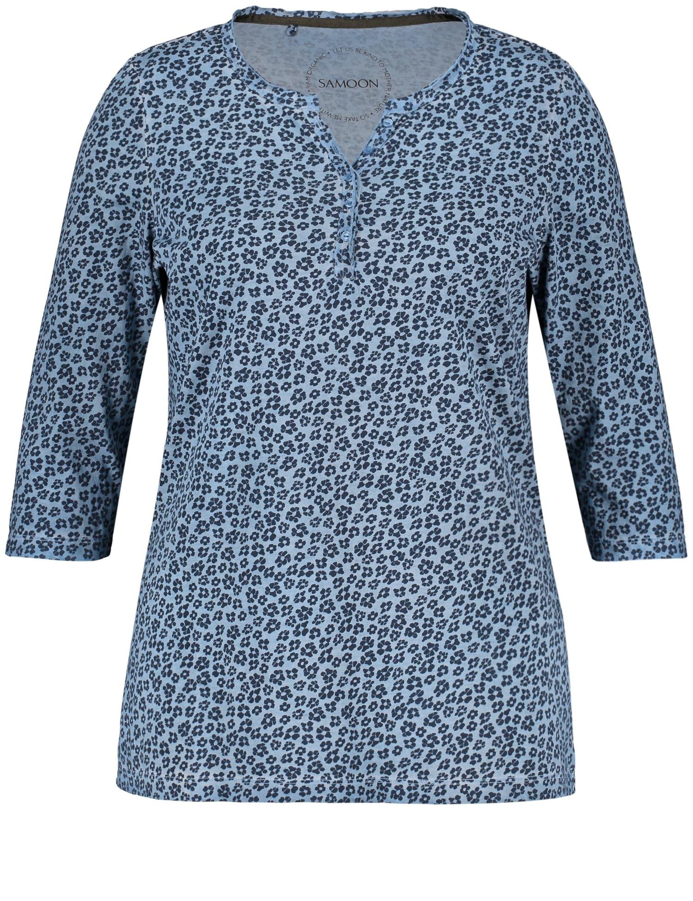 Samoon Shirt Samoon Blau In Blau Shirt In oedCBWrx