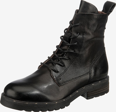 MJUS Lace-Up Ankle Boots in Black, Item view