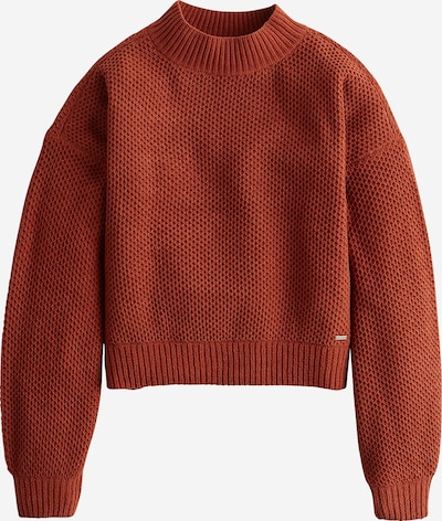 HOLLISTER Pullover  'XM19-MATTE CHENILLE HNYCMB MOCK 5CC' in rostbraun: Frontalansicht