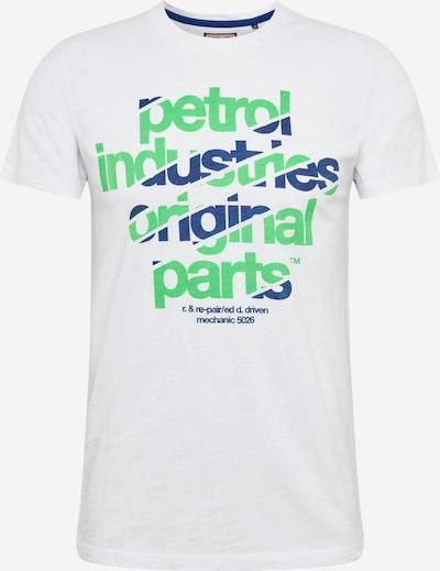Petrol Industries Koszulka w kolorze ciemny niebieski / jasnozielony / nakrapiany białym, Podgląd produktu