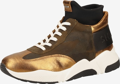 SHABBIES AMSTERDAM Sneaker in braunmeliert / gold, Produktansicht
