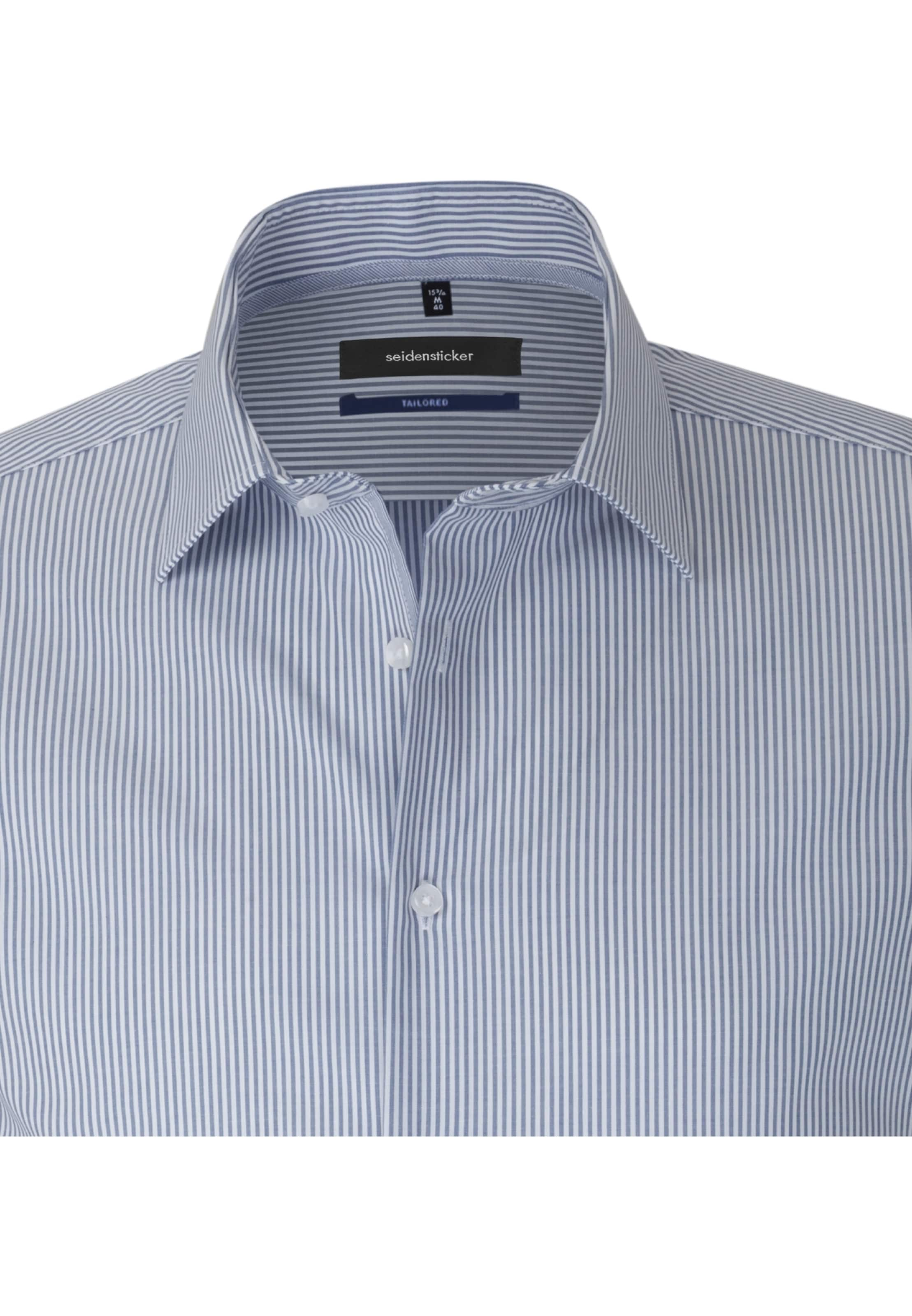Seidensticker En ' Chemise Business Tailored BleuBlanc JcTlFuK351