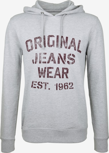 SHINE ORIGINAL Sweatshirt 'VINTAGEPRINT' in Grey / Bordeaux, Item view