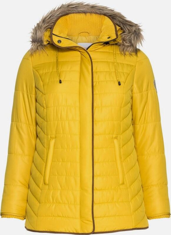 Sheego casual Outdoorjacke in braun   gelb  Großer Rabatt