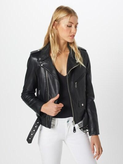 Schott NYC Jacke in schwarz, Modelansicht