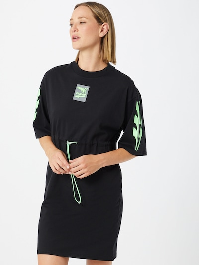 PUMA Robe 'Evide' en vert / noir: Vue de face