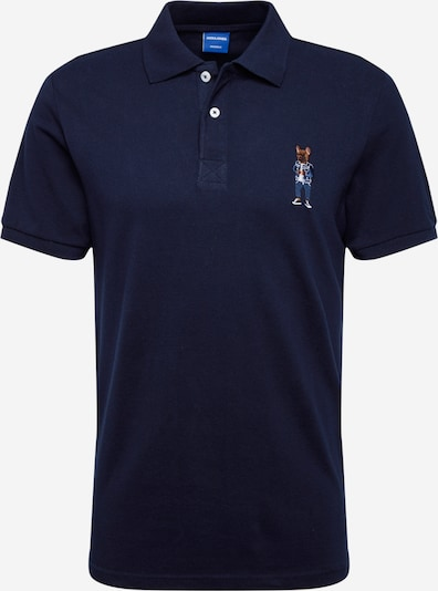 Tricou 'JORFRENCHIE' JACK & JONES pe navy: Privire frontală