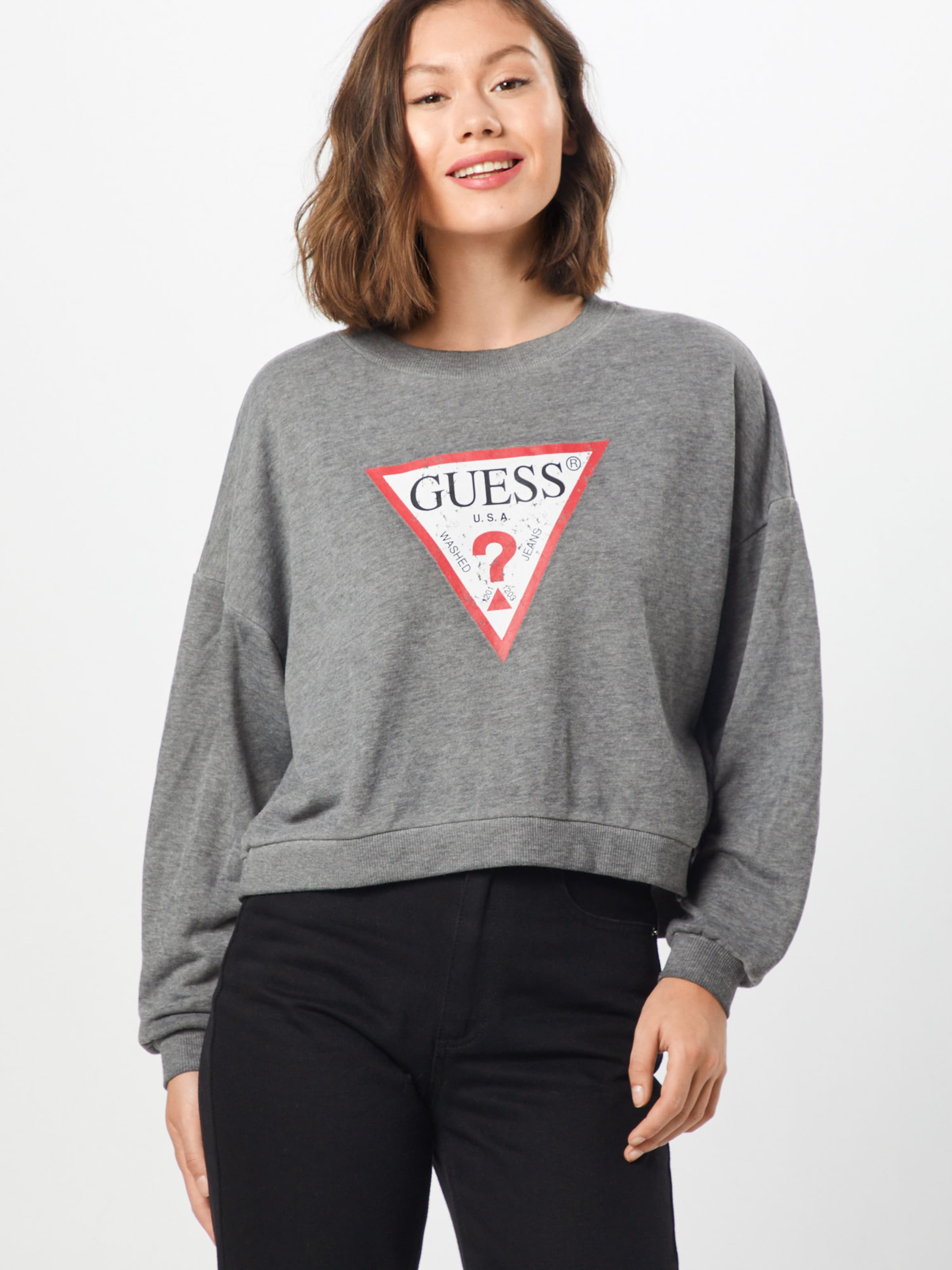 Gris Guess shirt En ChinéRouge Sweat QtshdCxr
