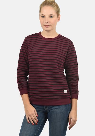 Blend She Sweatshirt in weinrot / schwarz: Frontalansicht