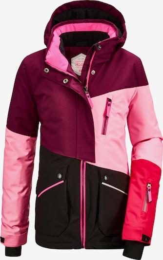KILLTEC Outdoorjas 'Flumet' in de kleur Pruim / Neonroze / Lichtroze, Productweergave