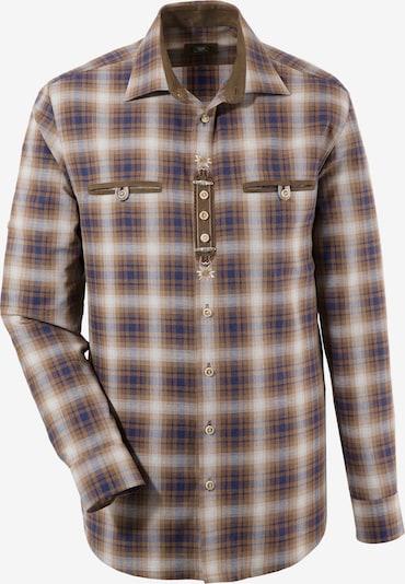 OS-TRACHTEN Trachtenhemd in blau / braun / weiß, Produktansicht