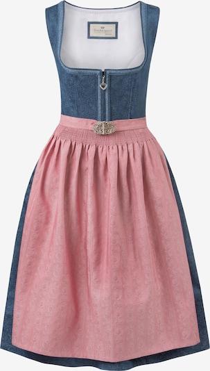 STOCKERPOINT Dirndl 'Roseline' in de kleur Blauw / Oudroze, Productweergave