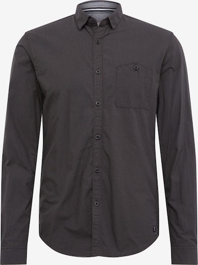 TOM TAILOR DENIM Hemd 'mini vichy shirt' in khaki / schwarz, Produktansicht