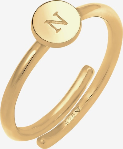 ELLI Bague 'Initial ' en jaune d'or, Vue avec produit