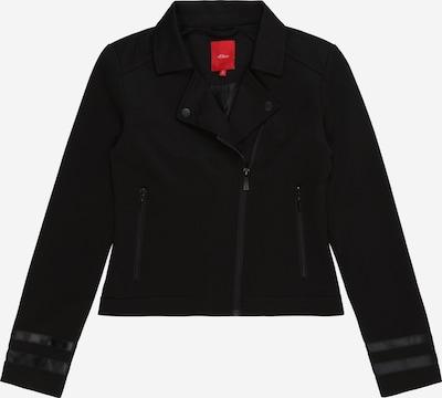 s.Oliver Junior Jacke in schwarz, Produktansicht