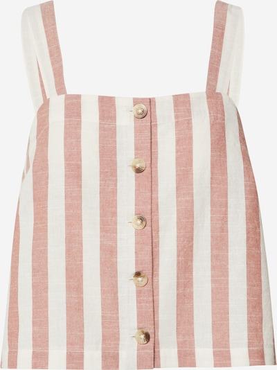 EDITED Bluzka 'Elva' w kolorze pudrowy / białym, Podgląd produktu